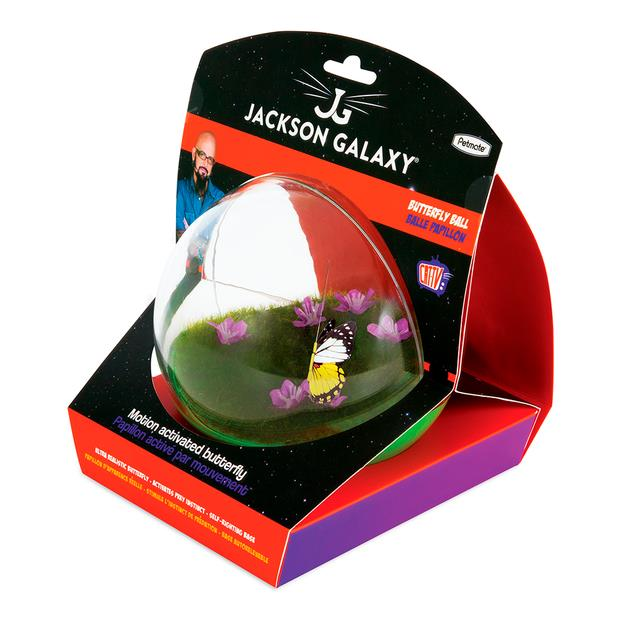 Jackson Galaxy Butterfly Ball Cat Toy Each Pet: Cat Category: Cat Supplies  Size: 0.5kg Colour: Multi...