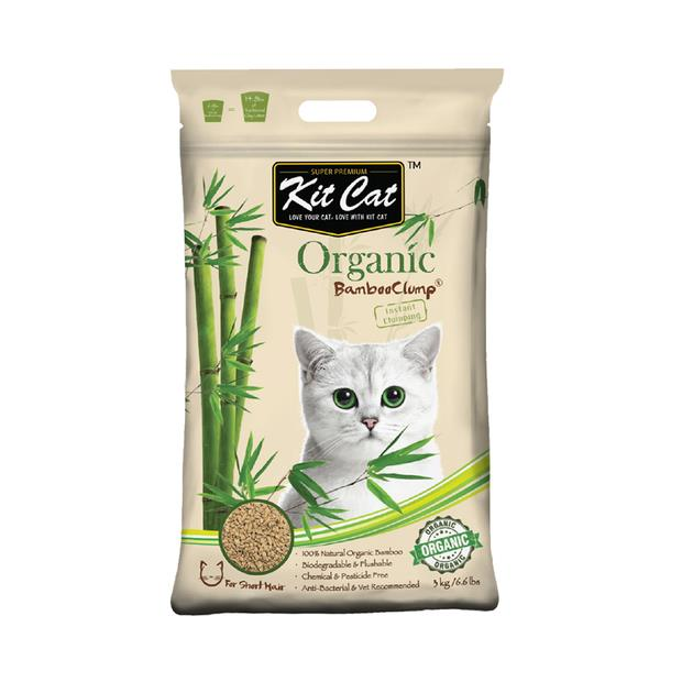 Kit Cat Litter Bamboo Short Hair 11kg Pet: Cat Category: Cat Supplies  Size: 11.2kg Material: Plant...