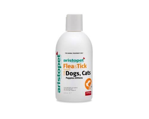 ARISTOPET FLEA/TICK SHAMPOO 250MLThe Aristopet Flea and Tick Shampoo is used for flea control in dogs...