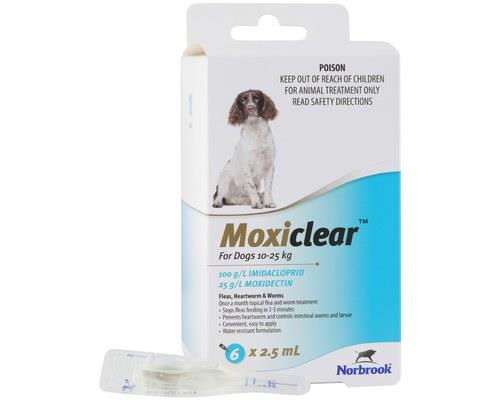 MOXICLEAR FOR DOGS 10-25KG 6 PACKMoxiclear for dogs that are 10-25kg is designed to be an all-rounder...