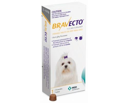 BRAVECTO CHEW FOR XS DOGS (2-4.5KG) YELLOW (1PK)Chewable oral flea treatments are an ideal way to...
