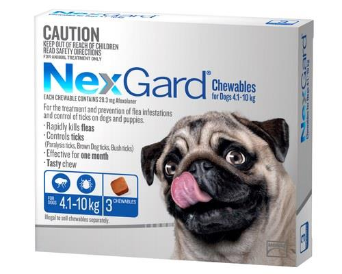 NexGard for Dogs Tick and Flea Treatment, 4.1-10kg, Blue, 3 PackRecommended for:Dogs weighing...
