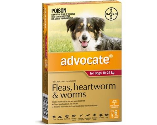 Advocate Flea, Heartworm and Worms Treatment for Dogs 10 - 25kg, 6 Months Supply RedAdvocate Red is...