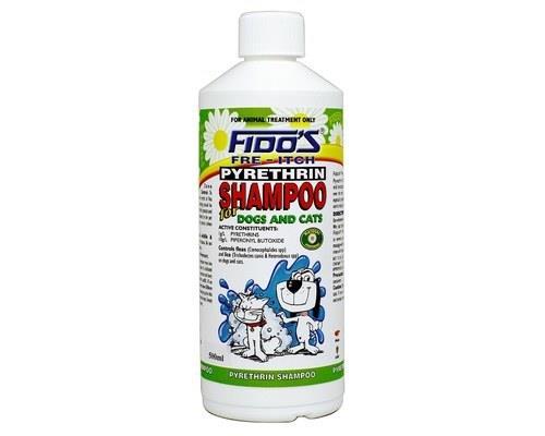 FIDOS PYRETHRIN SHAMPOO 500MLFido's Pyrethrin Shampoo is a soap-free natural shampoo that is used...