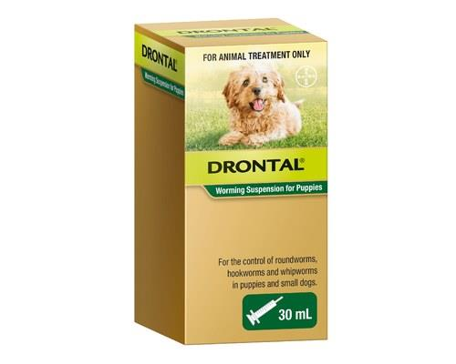 DRONTAL PUPPY SUSPENSION 30MLWorms are a threat to not only your dog but also your family. Drontal...