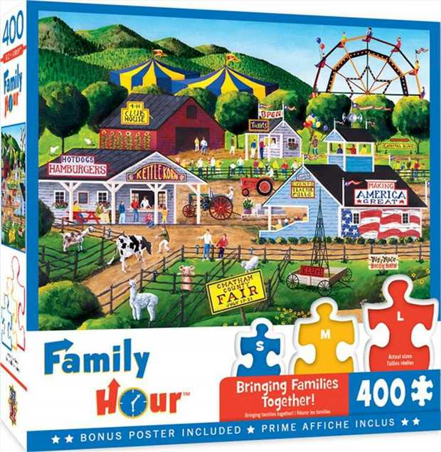 This 400pc Family Hour Collection are the perfect puzzles to enjoy with the family. Spend this summer...