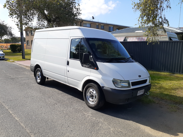 2005 ford transit van. Insulated rear 6 speed manual diesel motor. Comes with 6 months rego vgc drives...
