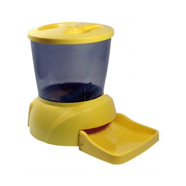 Prestige Pet Automatic Feeder 12 Small Pet: Dog Category: Dog Supplies  Size: 0.1kg Colour: Yellow...