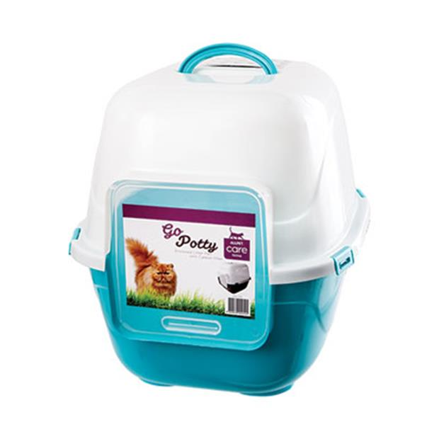 Poowee Cat Litter Tray Hooded Small Pet: Cat Category: Cat Supplies  Size: 1.2kg  Rich Description:...
