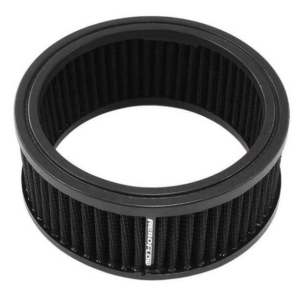 "Replacement Round Air Filter Element 6-3/8"" x 2-1/2"", black cotton element"