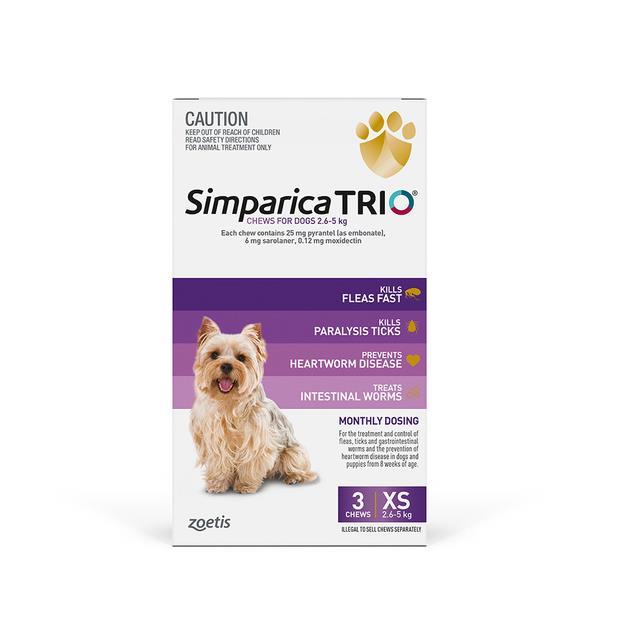 Simparica Trio Very Small 2 X 3 Pack Pet: Dog Category: Dog Supplies  Size: 1kg  Rich Description:...