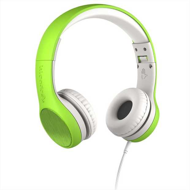 LilGadgets Connect+ Style Childrens Wired Headphones  Green  CONNECT+ Style. Recommended for ages 2-6.
