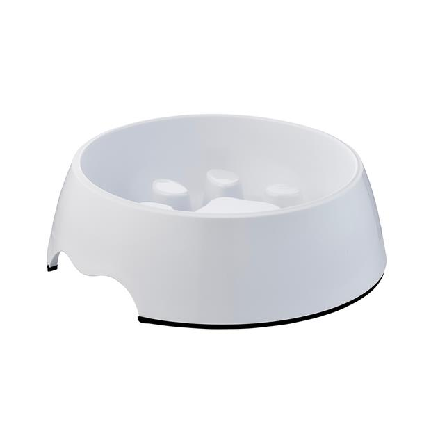 Paws For Life Slow Bowl White 250ml Pet: Dog Category: Dog Supplies  Size: 0.3kg Colour: White...