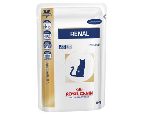 Royal Canin Veterinary Diet Cat Food, Renal Health Pouches, Chicken, 85gRoyal Canin bring you this...