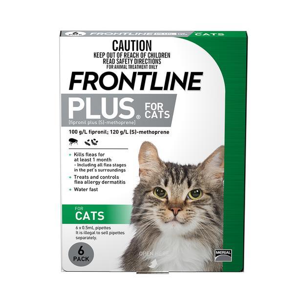 Frontline Plus Cat Green 3 Pack Pet: Cat Category: Cat Supplies  Size: 0.1kg  Rich Description:...