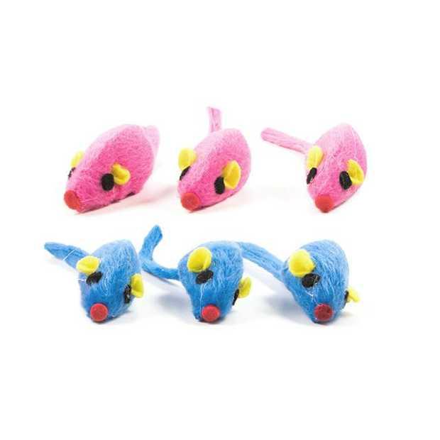 Trouble And Trix Bliss Mice 6 Pack Pet: Cat Category: Cat Supplies  Size: 0kg Colour: Blue  Rich...