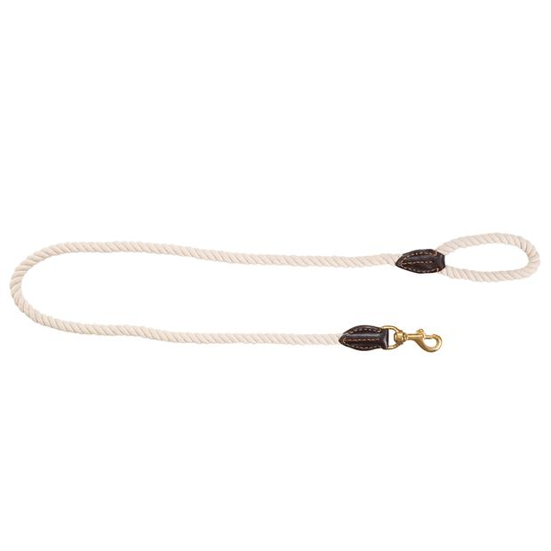 Mog And Bone Leather And Brass Lead Rope Natural 1.8m Pet: Dog Category: Dog Supplies  Size: 0.2kg...