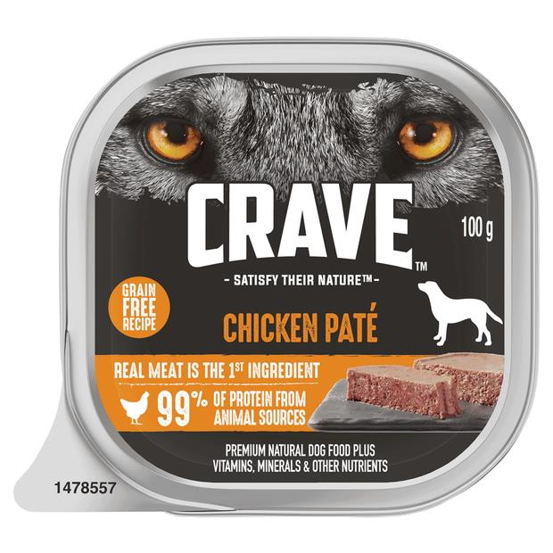 Crave Wet Dog Food Chicken Pate Tray 12 X 100g Pet: Dog Category: Dog Supplies  Size: 1.4kg  Rich...