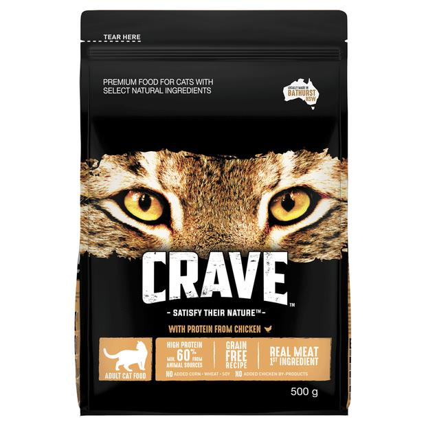 Crave Dry Cat Food Chicken Bag 500g Pet: Cat Category: Cat Supplies  Size: 0.4kg  Rich Description:...