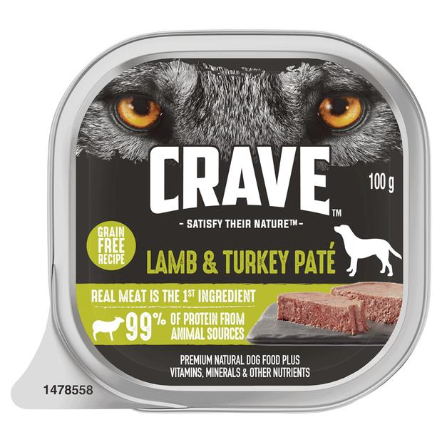 Crave Wet Dog Food Lamb And Turkey Pate Tray 12 X 100g Pet: Dog Category: Dog Supplies  Size: 1.4kg...