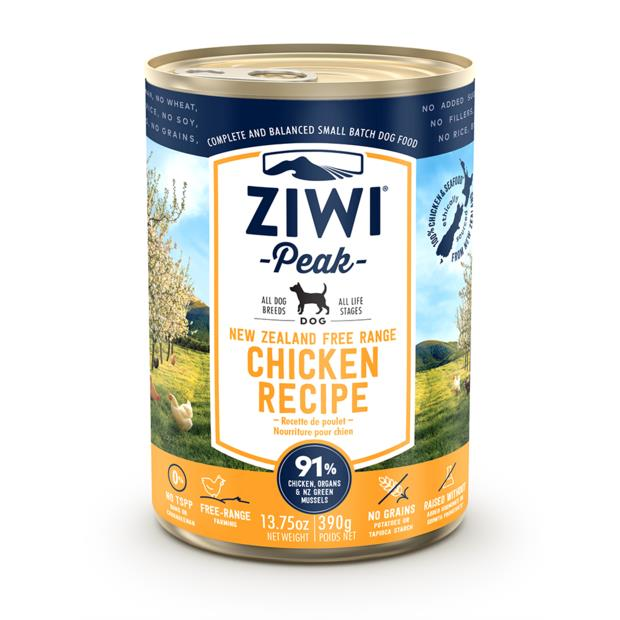 Ziwi Peak Chicken Wet Dog Food Cans 12 X 390g Pet: Dog Category: Dog Supplies  Size: 4kg  Rich...