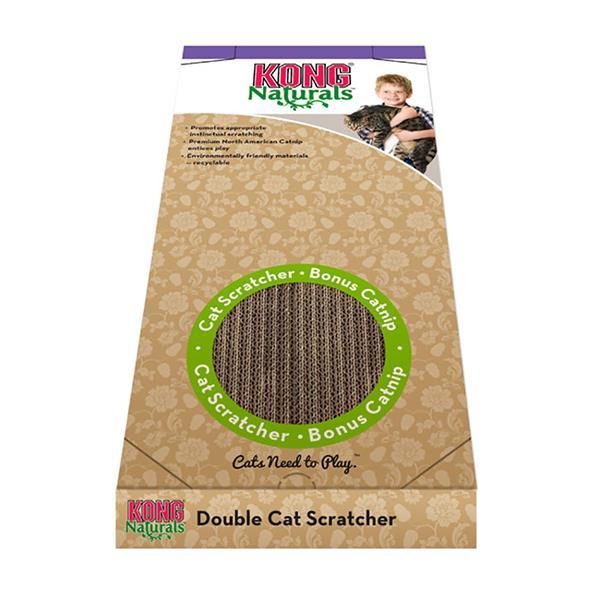 Kong Naturals Scratcher Double Double Pet: Cat Category: Cat Supplies  Size: 0.5kg  Rich Description:...