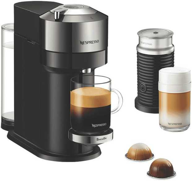 Coffee brewed exactly to your liking is effortless with the all-new Nespresso Vertuo Next Deluxe Bundle...