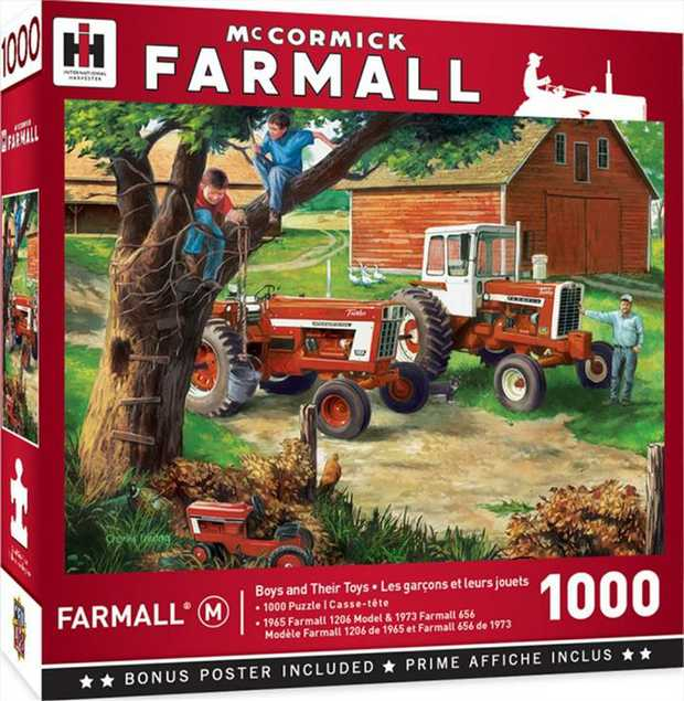 """This MasterPieces Farmall 19.25"""" x 26.75"""" 1000pc Puzzle features two different tractors - the..."""