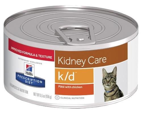 HILLS PRESCRIPTION DIET K/D KIDNEY CARE PATE WITH CHICKEN CANNED CAT FOOD 156GProactively protect your...