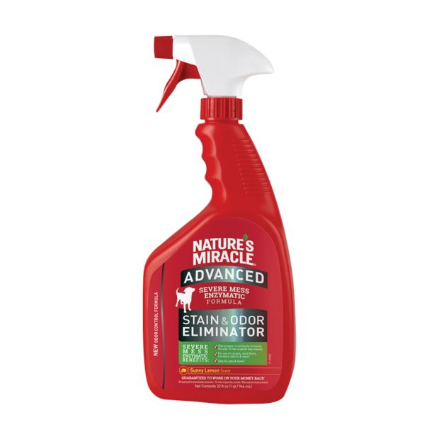 Natures Miracle Advanced Formula Stain And Odour Remover Lemon 946ml Pet: Dog Category: Dog Supplies ...