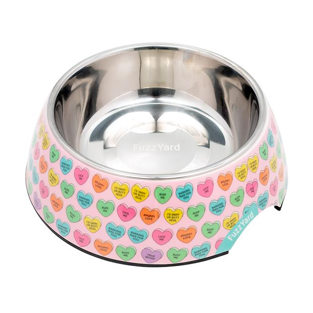 Fuzzyard Candy Hearts Bowl Small Pet: Dog Category: Dog Supplies  Size: 0.6kg Colour: Multi Material:...