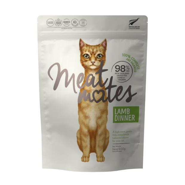 Meat Mates Grain Free Lamb Dinner Freeze Dried Cat Food 130g Pet: Cat Category: Cat Supplies  Size:...