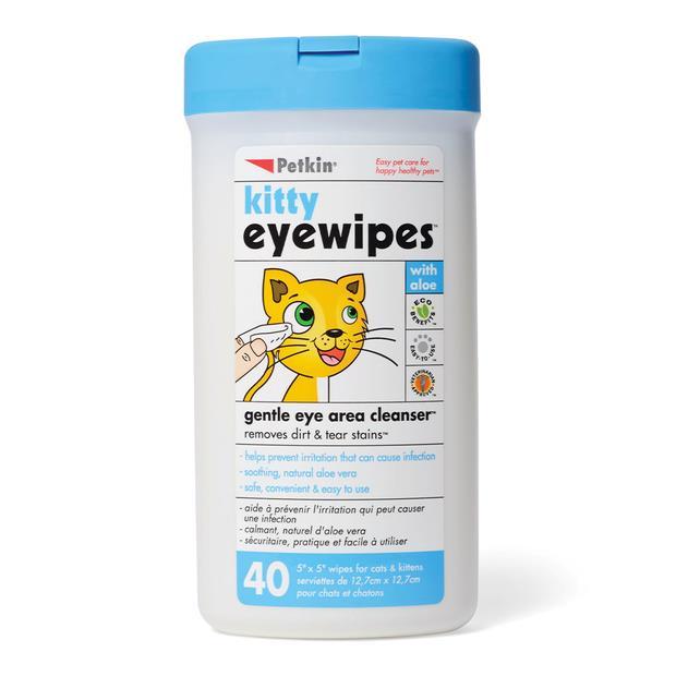 Petkin Kitty Eyewipes 40 Pack Pet: Cat Category: Cat Supplies  Size: 0.2kg  Rich Description: No kitty...