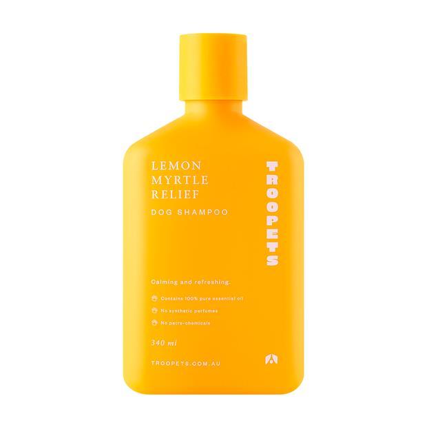 Troopets Dog Shampoo Lemon Myrtle Relief 340ml Pet: Dog Category: Dog Supplies  Size: 0.3kg  Rich...