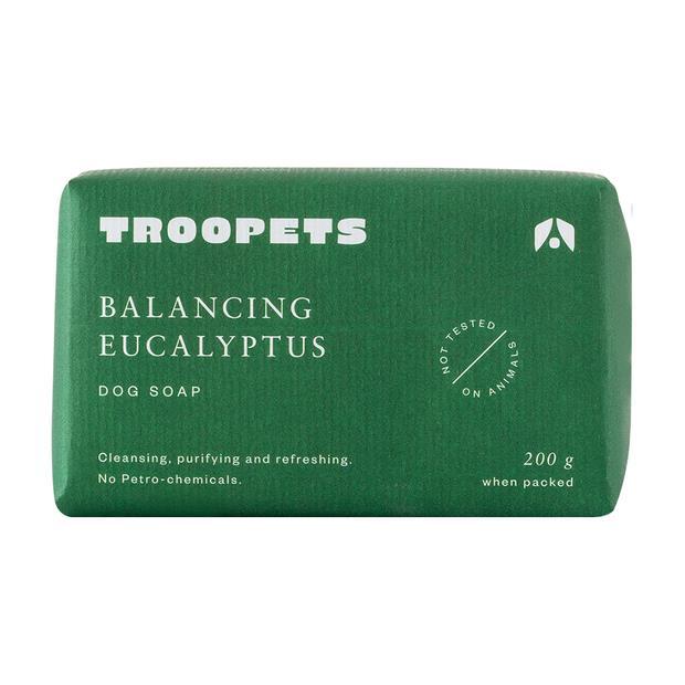 Troopets Dog Soap Balancing Eucalyptus 200g Pet: Dog Category: Dog Supplies  Size: 0.2kg  Rich...