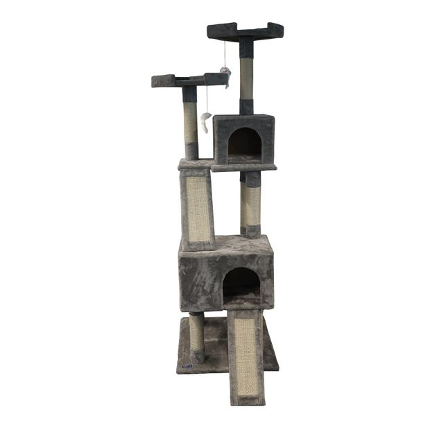 Paws For Life Tall Cat Tree And Condo Each Pet: Cat Category: Cat Supplies  Size: 20.8kg Colour: Grey...