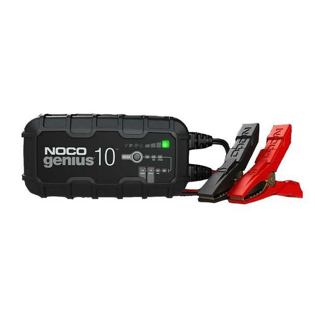 10-Amp Battery Charger, Battery Maintainer, and Battery Desulfator Introducing the all-new GENIUS10...