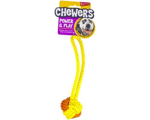 Yours Droolly Rubber Rope Ball Tug 6cmYours Droolly have changed up the game of tug with their new...