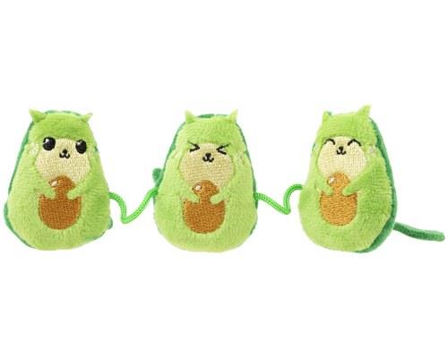 FUZZYARD CAT TOY AVOCATOSThis trio of plush creatures attached by a string will keep all of those cool...