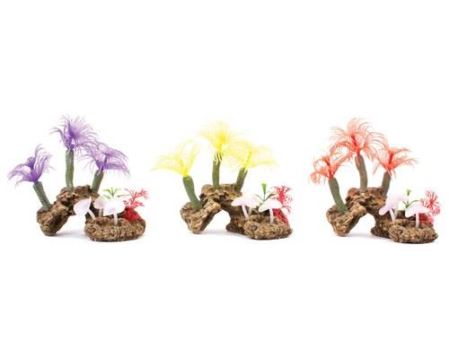 KAZOO SOFT TREE CORAL W/ROCKChoose one colour or pick them all!These brightly coloured aquarium...