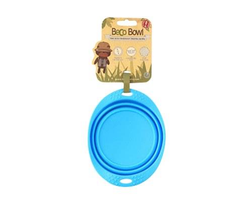 BECO PETS BLUE TRAVEL BOWL SMALLA food and water bowl that folds flat, making it ideal for travelling.