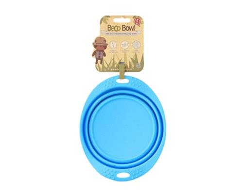 BECO PETS BLUE TRAVEL BOWL MEDIUMA food and water bowl that folds flat, making it ideal for travelling.
