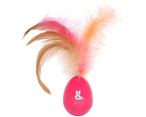 RUFUS & COCO ROCKING FEATHER CAT TOY PINKKeep your cat entertained for hours of fun with the Rufus...