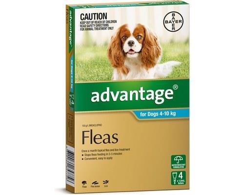 Advantage Flea Treatment for Dogs up to 10kg, 4 Months Supply AquaAdvantage spot-on flea treatment has...