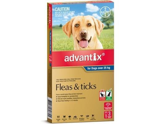 Advantix Flea, Fly and Tick Treatment for Dogs Over 25kg, 3 Months Supply BlueAdvantix has been...