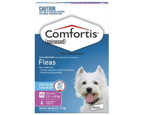 COMFORTIS 140MG 2.3-4.5KG 6 PACK - PINKComfortis Pink is a chewable, beef-flavoured tablet that...