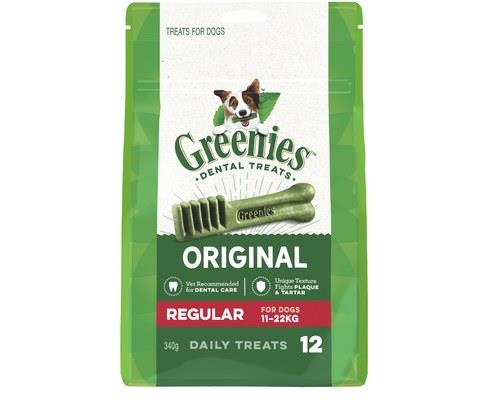 Greenies Dental Treat Pack, Regular, 12 ChewsGreenies dental treats for dogs are one of the easiest...