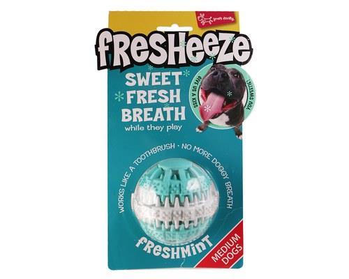 Fresheeze Mint Dog Dental Toy, Rotating Dental Ball, MediumSize:Suitable for medium dogs...