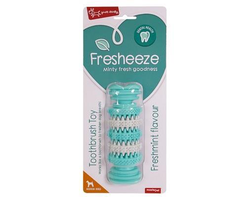 Fresheeze Mint Dog Dental Toy, Rotating Dumbell Bone, MediumSize: Suitable for medium dogs, 15cm L x...