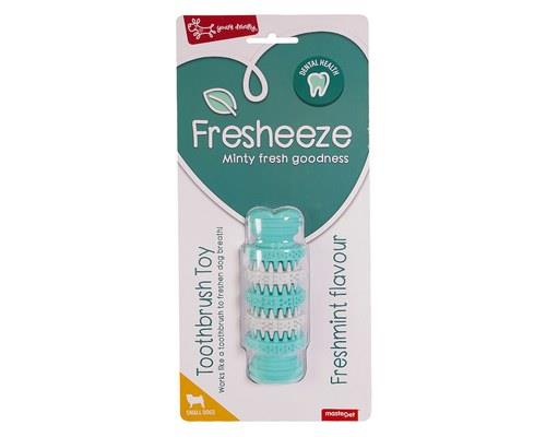 Fresheeze Mint Dog Dental Toy, Rotating Dumbell Bone, SmallSize:Suitable for small dogs, 11.5cm L...